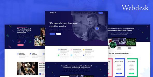 响应式设计互联网企业网站模板