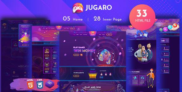 紫色卡通样式娱乐比赛网站模板