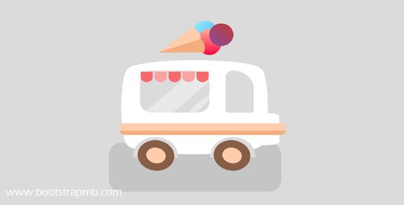 CSS3代码实现的冰淇淋车