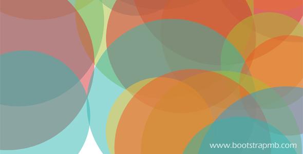 彩色圆圈动态上升特效