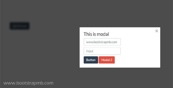 简单的Modal弹出插件