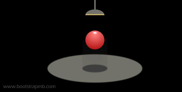 纯CSS弹性小球动画特效