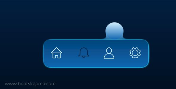 工具栏菜单切换创意SVG动画