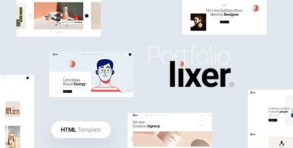 简约UI设计创意作品集网页HTML5模板